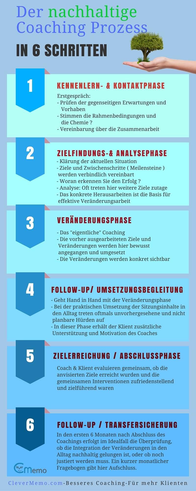 Coaching Prozess Infografik