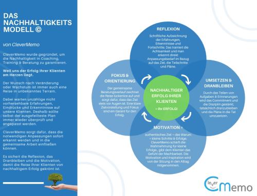 Das Nachhaltigkeits-Modell für Coaching, Training und Beratung (Infografik)